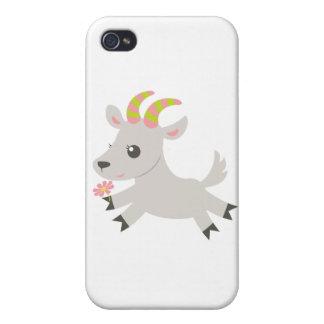 Cabra locuaz de los animales de ABC iPhone 4 Funda