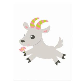 Cabra locuaz de los animales de ABC Postales
