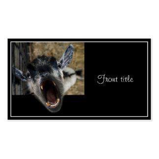Cabra que grita para salir tarjetas de visita