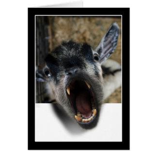 Cabra que grita para salir tarjeta de felicitación