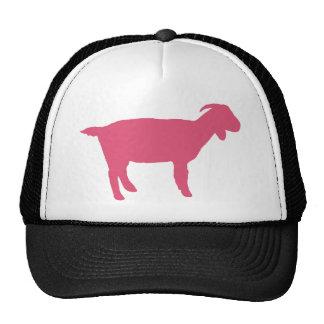 Cabra rosada gorros bordados
