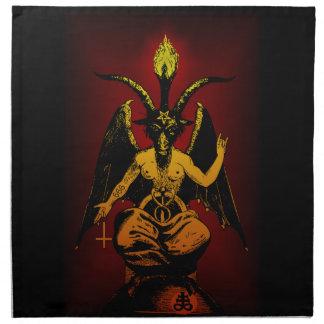 Cabra satánica 20x20 en el paño servilletas imprimidas
