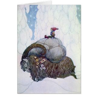 Cabra sueca del navidad: Julebukking - tarjeta de