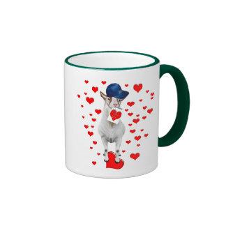 Cabra-Tarjeta del día de San Valentín-Yo LoveYou Taza A Dos Colores