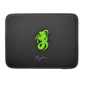 Cabra verde chartreuse, de neón del Capricornio Fundas Para Macbook Pro