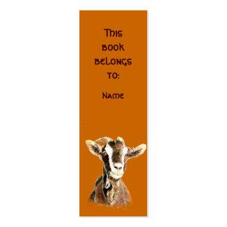 Cabra vieja de la acuarela conocida de encargo tarjetas de visita mini
