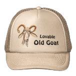 Cabra vieja divertida gorra