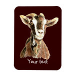 Cabra vieja linda, humor del animal del campo imanes rectangulares