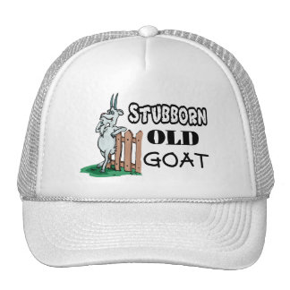 Cabra vieja obstinada gorra