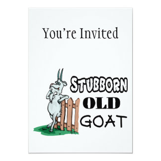 Cabra vieja obstinada anuncio personalizado