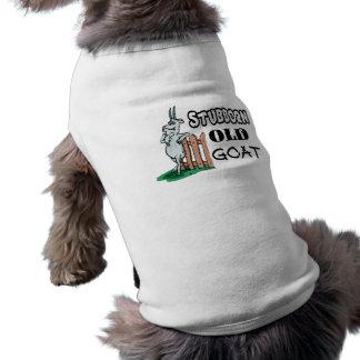Cabra vieja obstinada playera sin mangas para perro