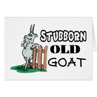 Cabra vieja obstinada tarjeta de felicitación