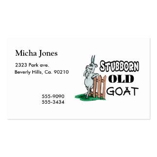 Cabra vieja obstinada tarjetas de visita