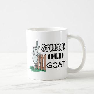 Cabra vieja obstinada taza
