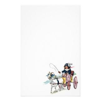 Cabra y cochecillo del vintage  papeleria de diseño