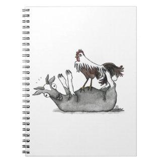 Cabra y pollo de desfallecimiento spiral notebook