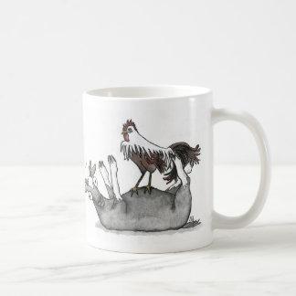 Cabra y pollo de desfallecimiento taza básica blanca