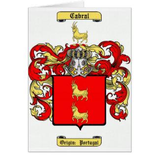 cabral card