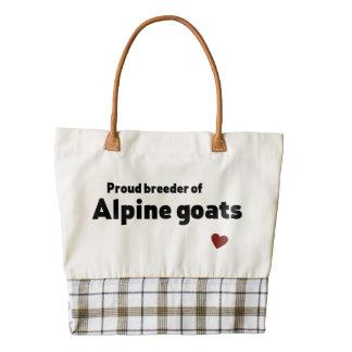 Cabras alpinas bolsa tote zazzle HEART
