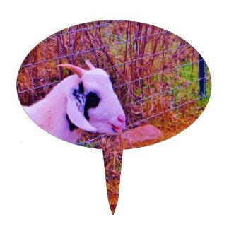 Cabras coloridas figuras de tarta