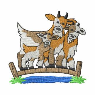 Cabras de Billy rudas Camiseta Polo Bordada