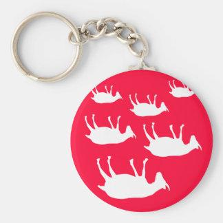 Cabras de desfallecimiento llavero redondo tipo pin