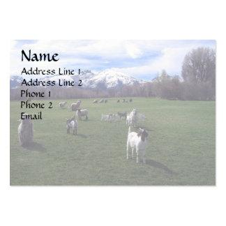 Cabras de enero y montañas de rubíes tarjetas de visita grandes
