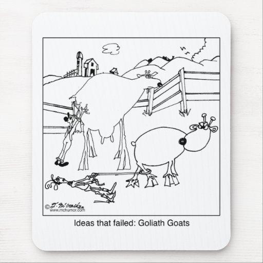 Cabras de Goliat Mouse Pads