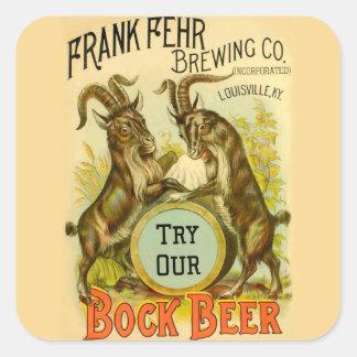 Cabras de la cerveza de Bock Pegatina Cuadrada