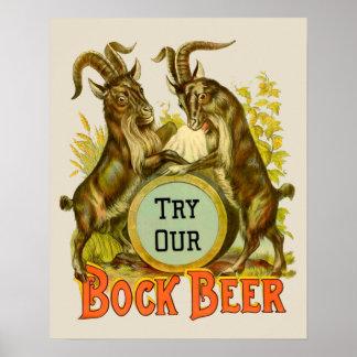 Cabras de la cerveza de Bock Póster