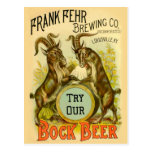 Cabras de la cerveza de Bock Tarjeta Postal