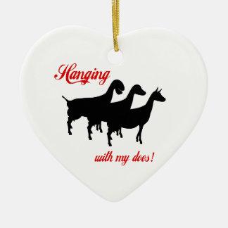 Cabras de la lechería ornamento de reyes magos