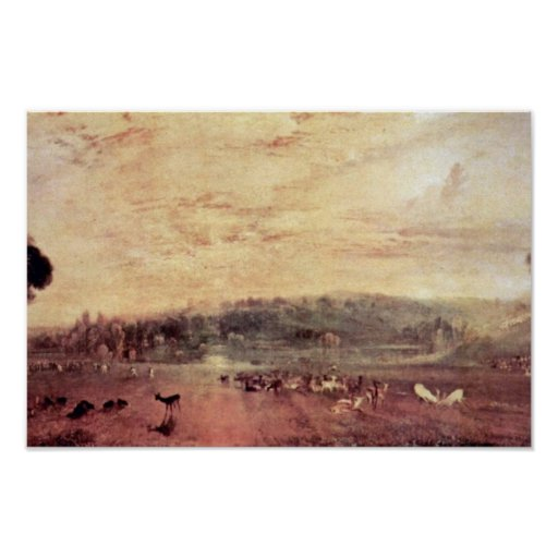 Cabras de los Disputants de Petworth de la puesta  Poster
