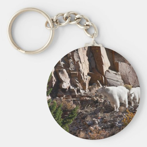 Cabras de montaña llaveros