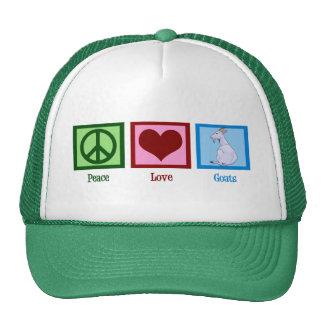 Cabras del amor de la paz gorras