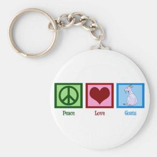 Cabras del amor de la paz llavero redondo tipo pin