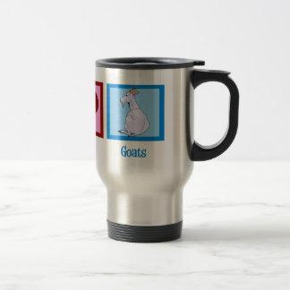 Cabras del amor de la paz tazas de café