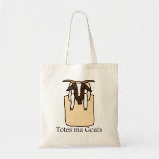 Cabras del mA de los totes (con el texto) Bolsa Tela Barata