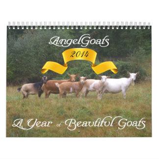 Cabras hermosas 2014 del calendario de la cabra