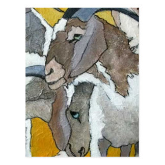 Cabras lindas que abrazan postal