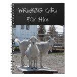 Cabras occidentales divertidas para el alquiler libros de apuntes con espiral