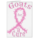 Cabras para un cáncer de pecho de la curación felicitación