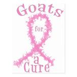 Cabras para un cáncer de pecho de la curación tarjeta postal