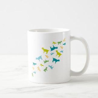 Cabras que caen taza de café