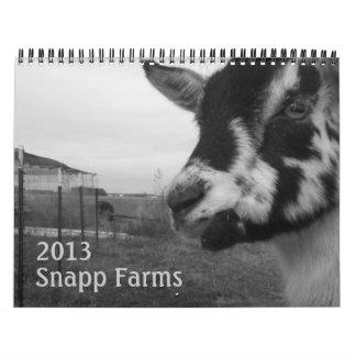 Cabras y calendario 2013 de las aves de corral