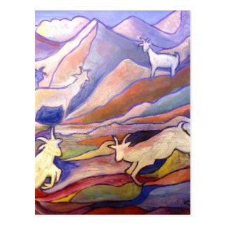 Cabras y montañas tarjetas postales