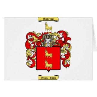 Cabrera Card