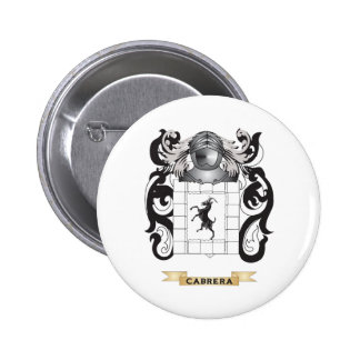 Cabrera Coat of Arms (Family Crest) Pinback Buttons