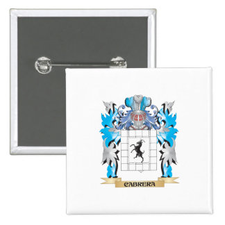 Cabrera Coat of Arms - Family Crest Pins