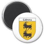 Cabrera Coat of Arms/Family Crest Fridge Magnet